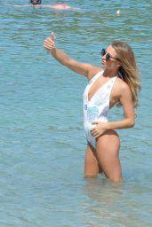 Georgia Harrison - Enjoying a Day at the Beach in Ibiza 10/05/2017