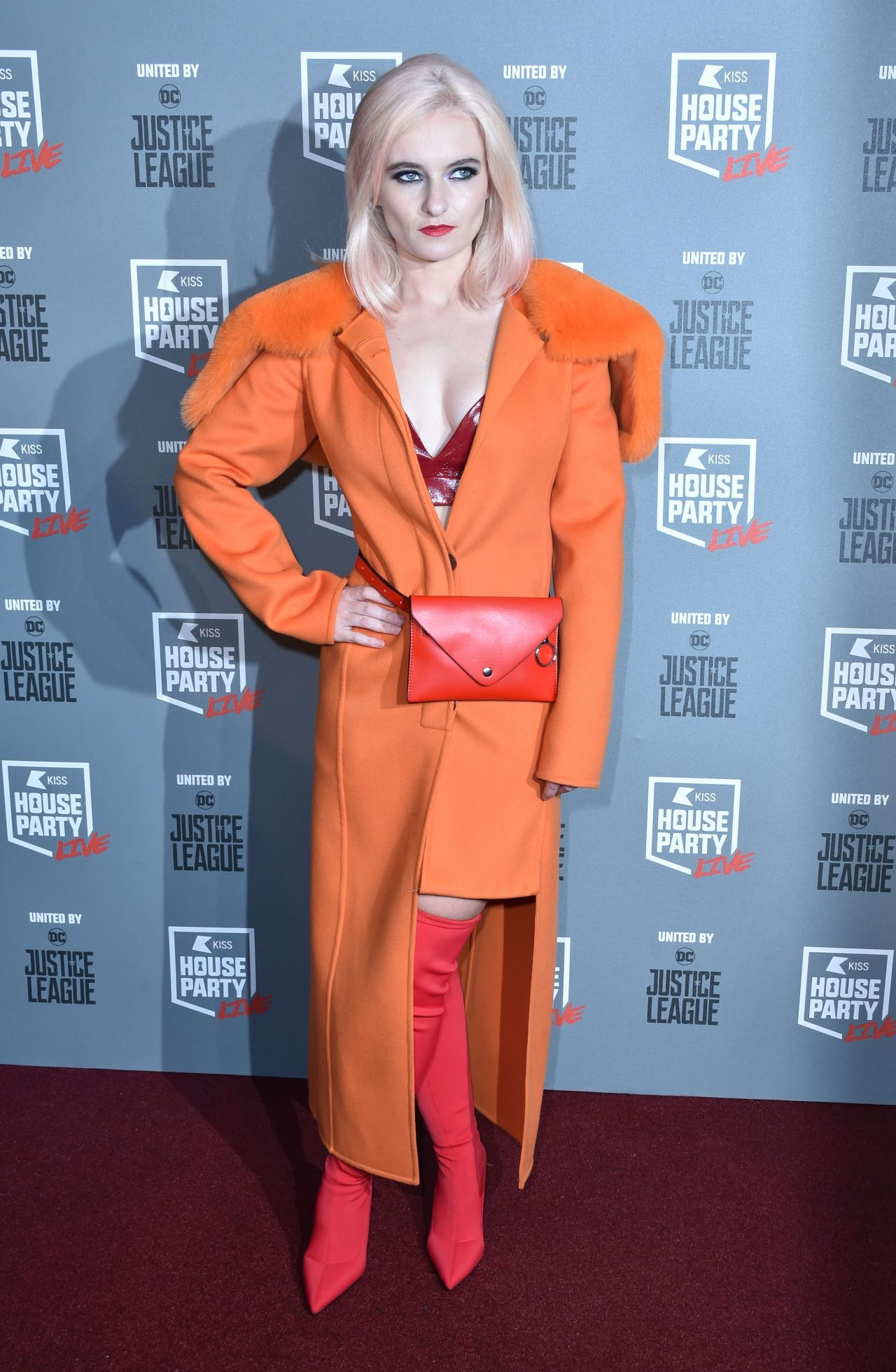 Grace Chatto - KISS FM Haunted House Party in London 10/26/2017