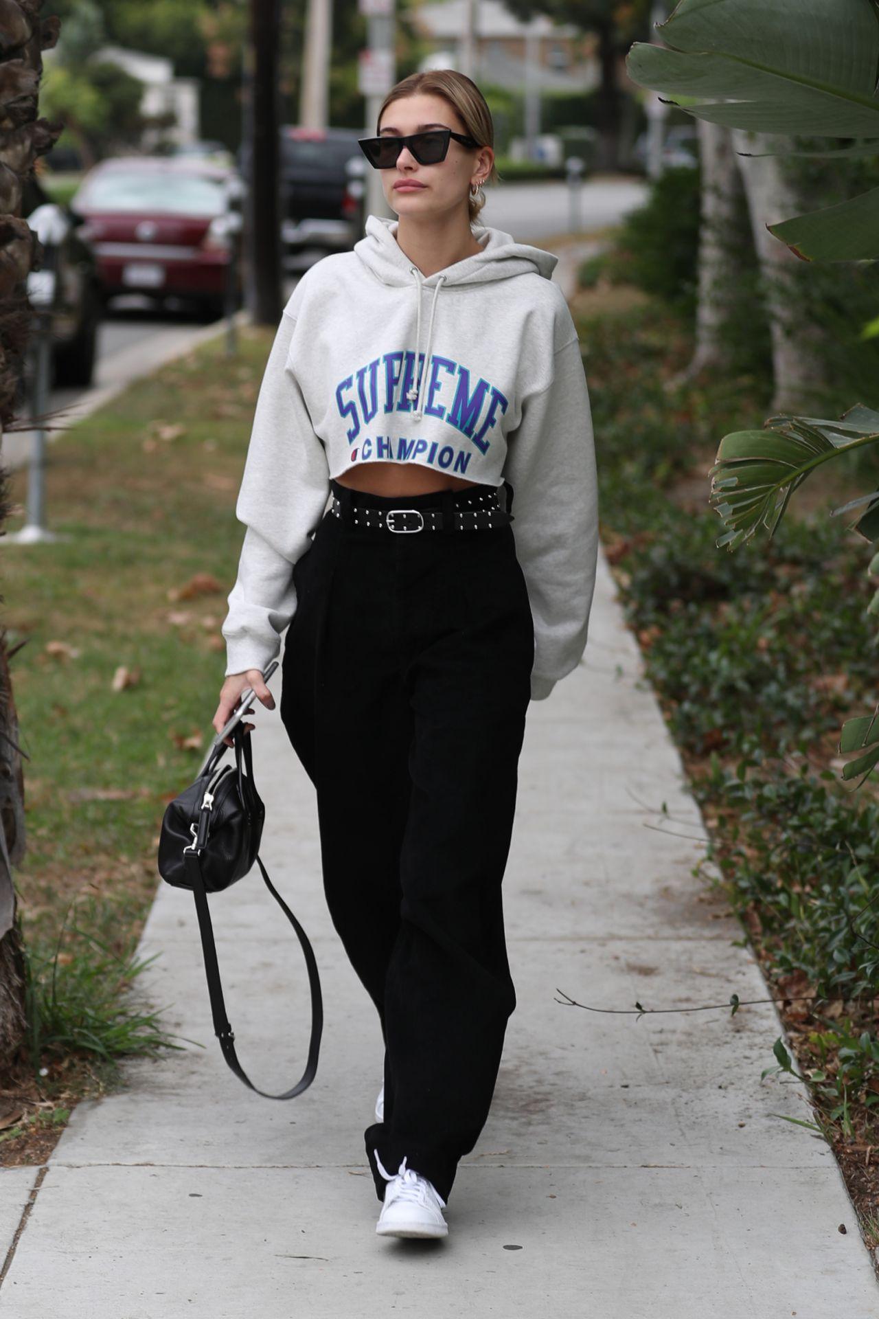 Hailey Baldwin Street Style - West Hollywood, CA 10/30/2017