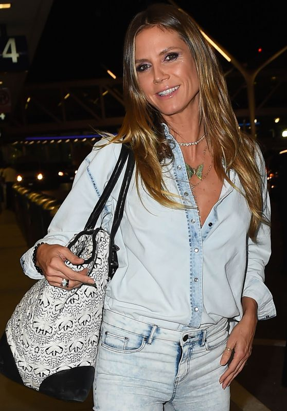 Heidi Klum at LAX Airport in Los Angeles 10/27/2017