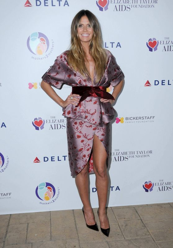 Heidi Klum - Elizabeth Taylor AIDS Foundation & Mothers2Mothers Benefit Dinner in LA 10/24/2017