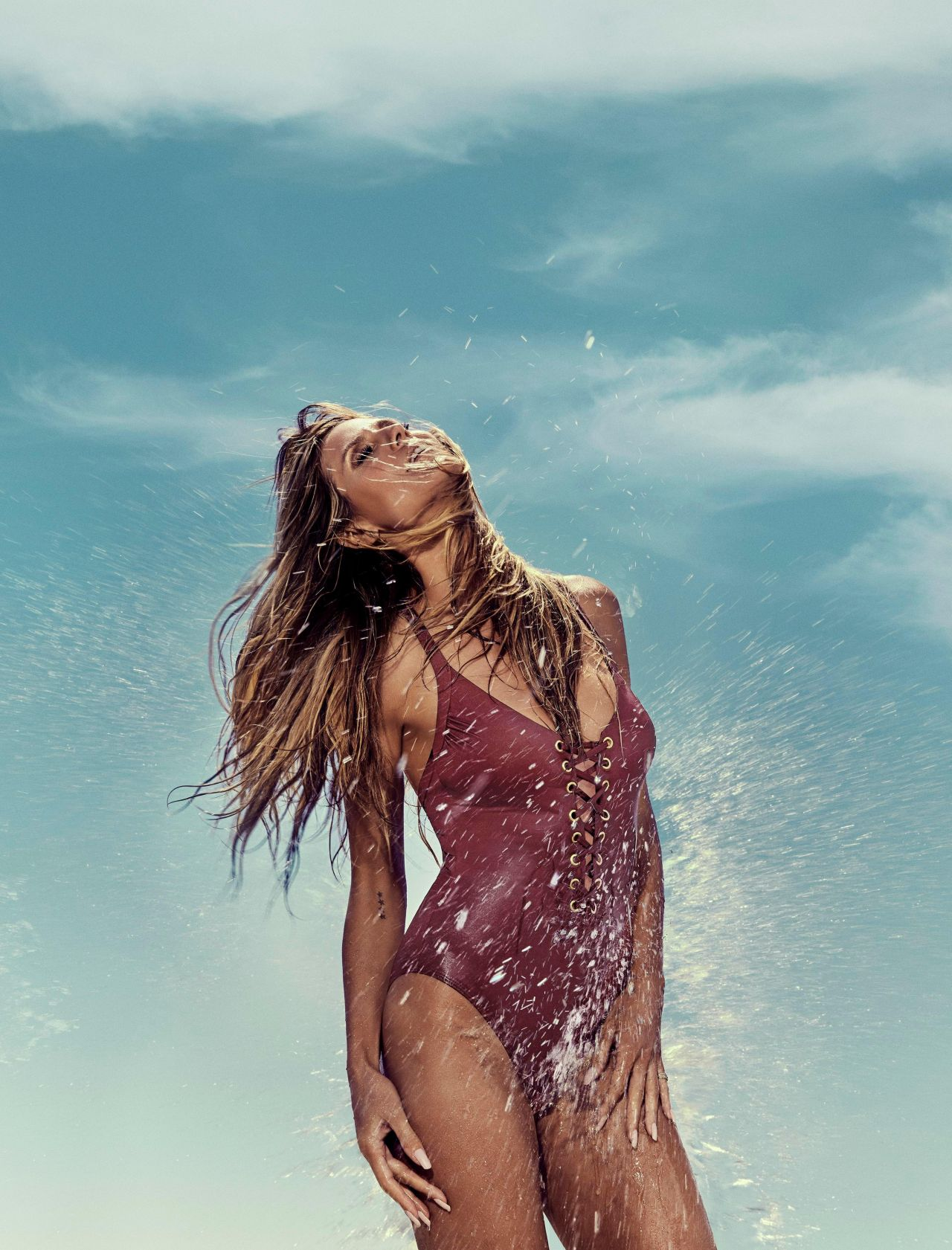 image Heidi klum seethrough photoshoot at the beach