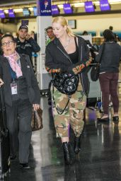Iggy Azalea in Cmouflage Pants at JFK Airport in NYC 10/16/2017