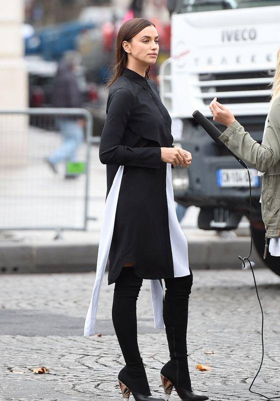Irina Shayk Arriving at L