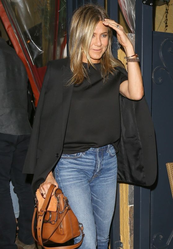Jennifer Aniston and Sandra Bullock at Il Piccolino in West Hollywood 10/21/2017