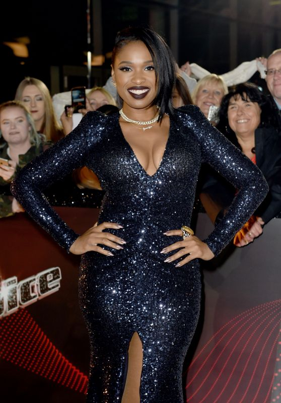 "Jennifer Hudson - ""The Voice"" TV Show Photocall in Manchester 10/17/2017"