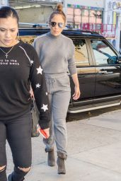 Jennifer Lopez Street Style - Arriving at a Studio in New York 10/19/2017