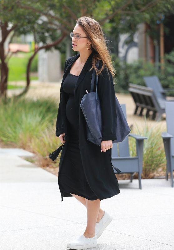 Jessica Alba in Casual Attire -Santa Monica 10/03/2017