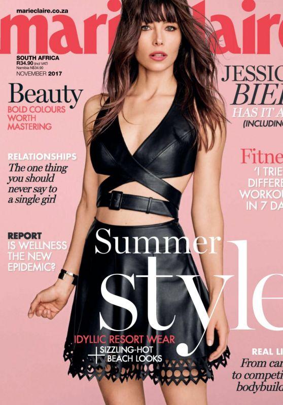 Jessica Biel - Marie Claire Magazine South Africa November 2017 Issue