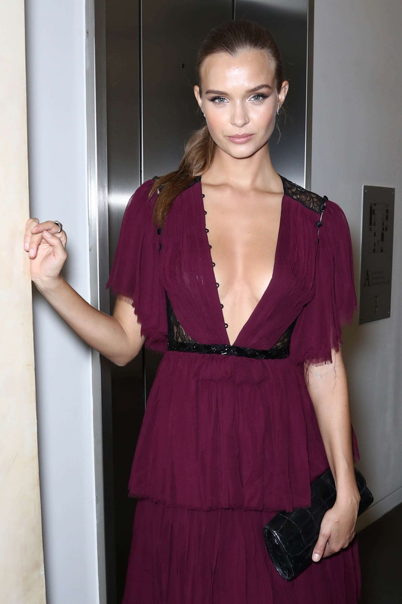 Josephine Skriver at Take Home a Nude Auction and Dinner in NY