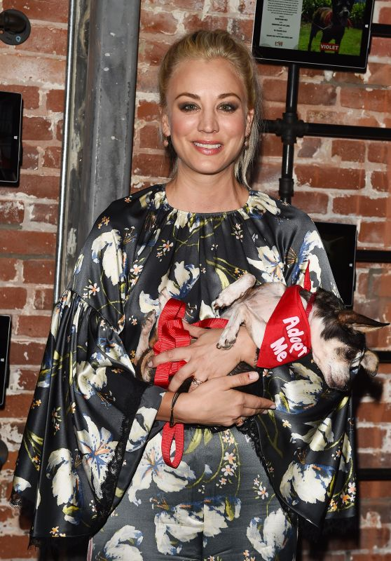 Kaley Cuoco - Much Love Animal Rescue Spoken Woof at Microsoft Lounge in Venice 10/07/2017