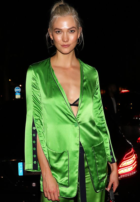 Karlie Kloss - Arriving at CR Fashion Book Party in Paris 09/30/2017