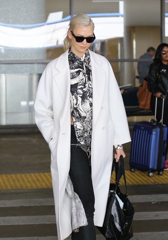Karlie Kloss in Travel Outfit - LAX Airport 10/05/2017