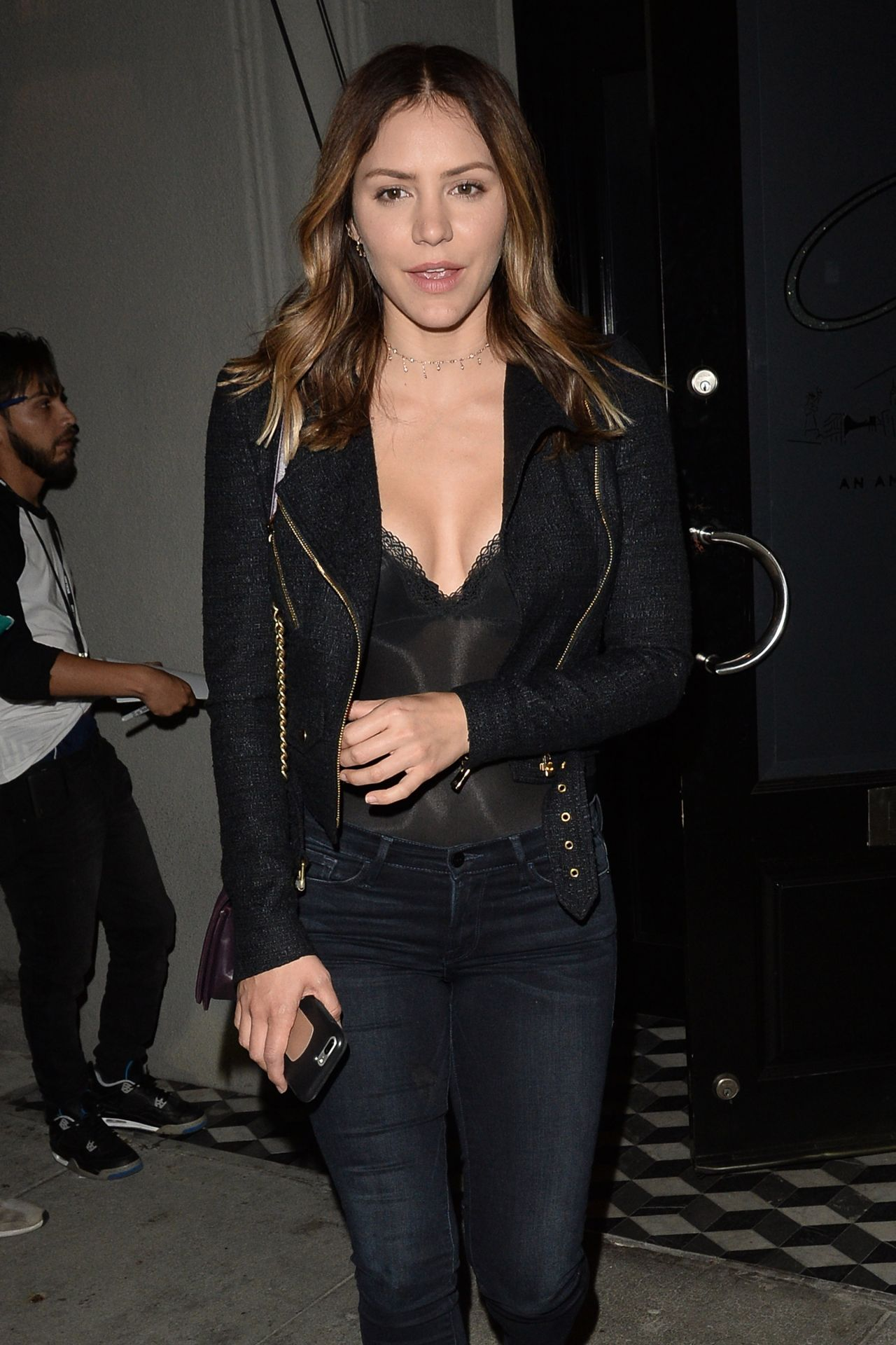 Katharine McPhee and David Foster Dine Together at Craigs in LA 10/23/2017