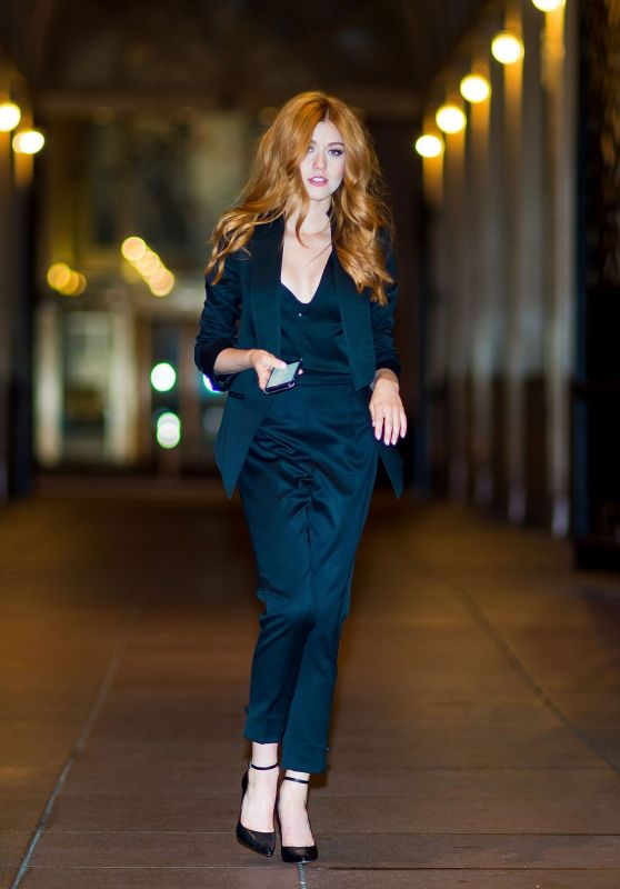 Katherine McNamara Style - Midtown, New York City 10/07/2017