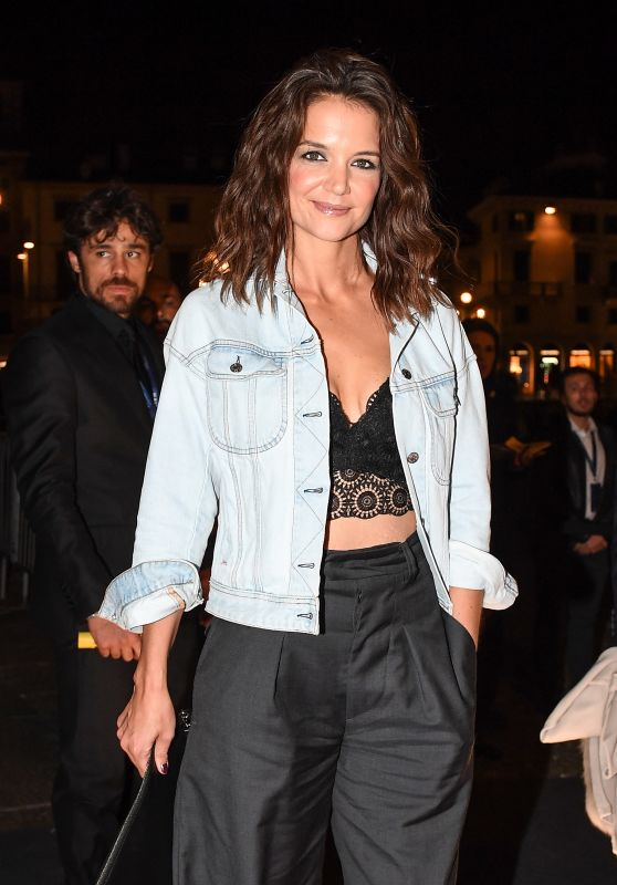 Katie Holmes at Intimissimi on Ice in Verona, Italy 10/06/2017