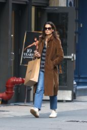 Katie Holmes Street Style - Shops at A.P.C. in NYC 10/13/2017