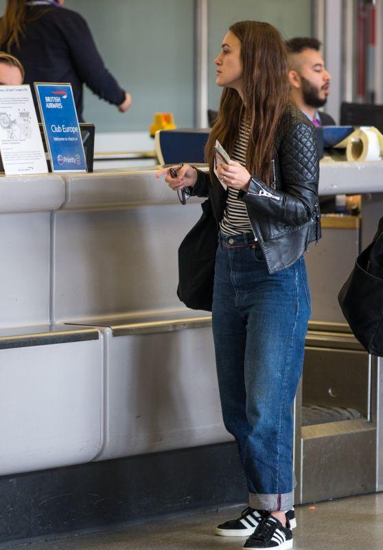 Keira Knightley at Tegel Airport in Berlin 10/07/2017