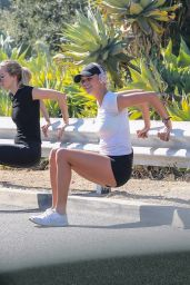 Kelly Rohrbach Leggy in Shorts - Working Out in Santa Monica 10/27/2017