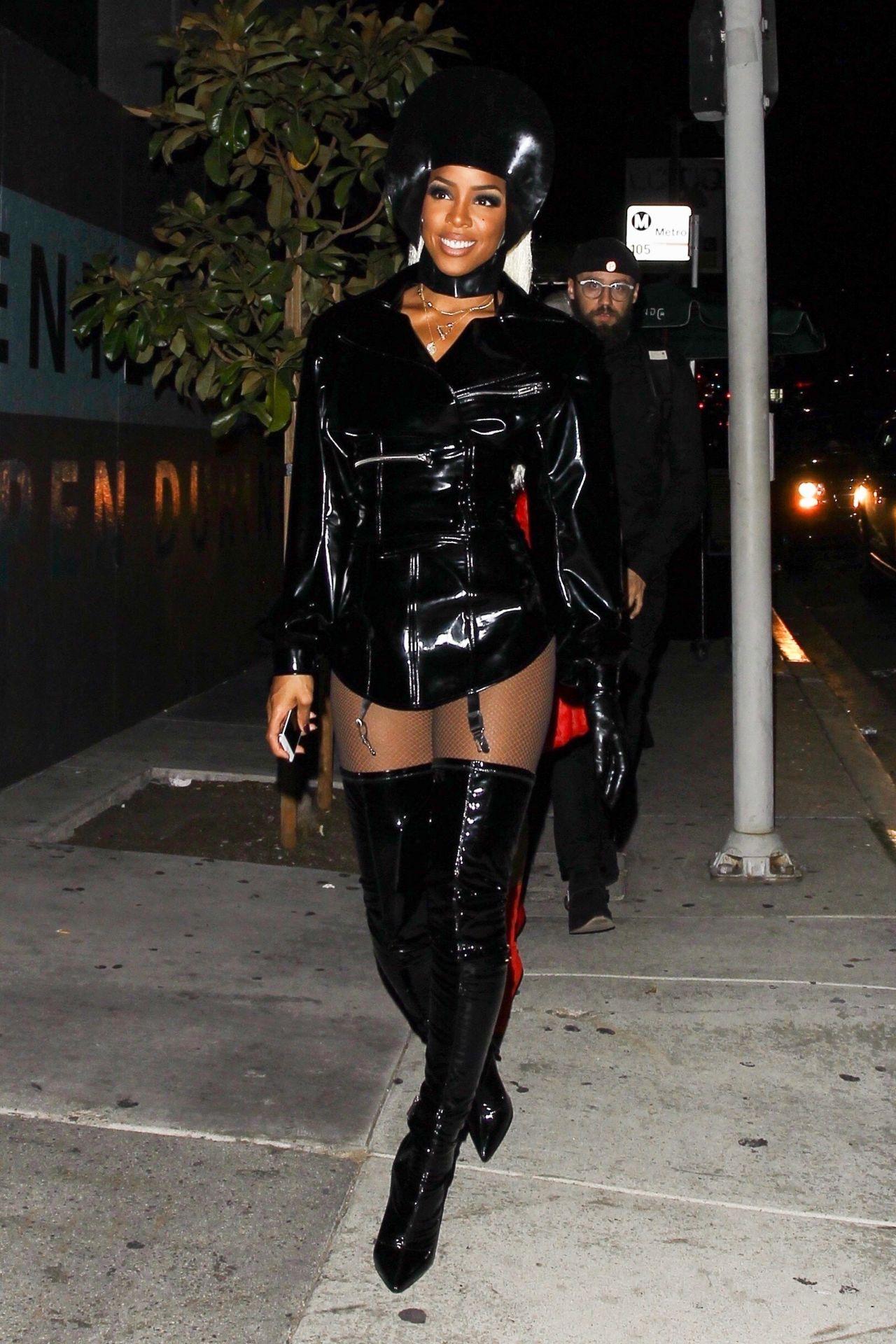 Kelly Rowland Halloween Party At Poppy Nightclub In