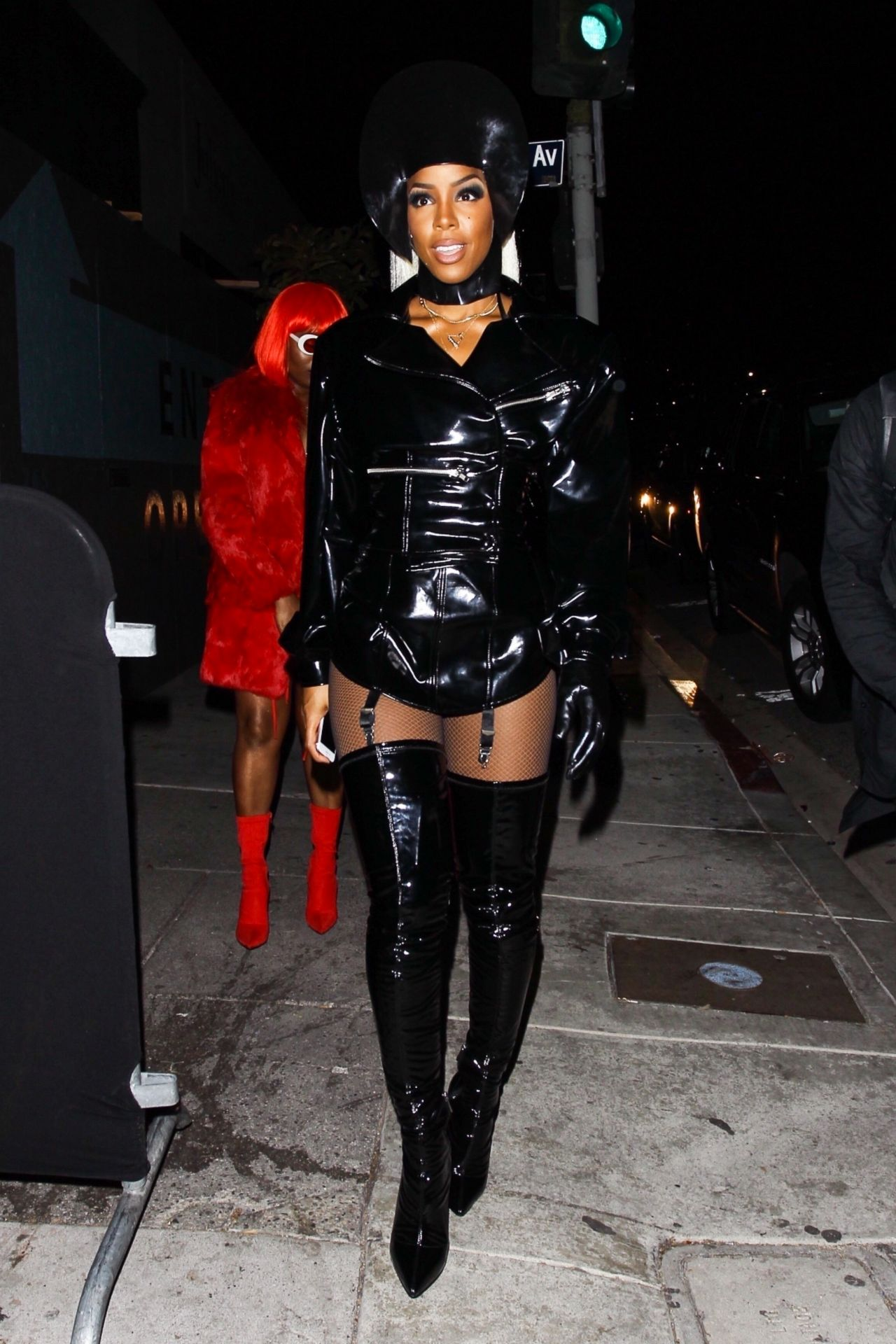 Kelly Rowland Halloween Party At Poppy Nightclub In