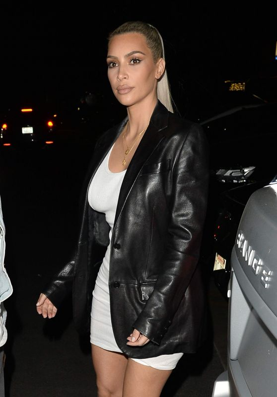 Kim Kardashian - Arrive to Her 37th Birthday Party in Los Feliz