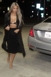 Kim Kardashian at a Gas Station in Brentwood