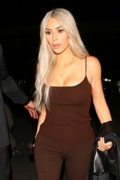 Kim Kardashian in All Brown - West Hollywood 10/18/2017