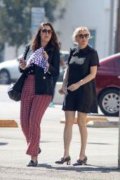 Kirsten Dunst in Mini Dress - Leaves Joan