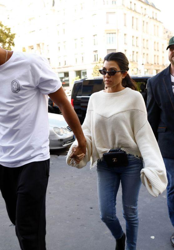 Kourtney Kardashian - Out in Paris Wih Her Boyfriend 09/30/2017