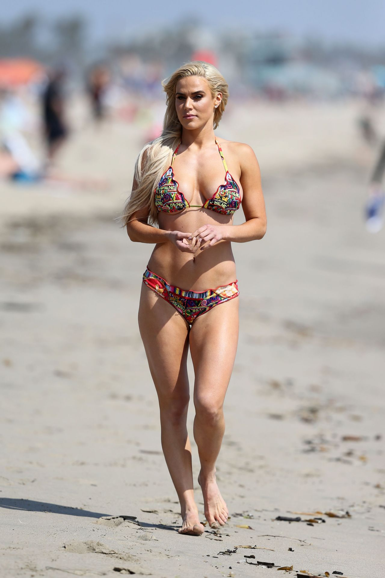 Lana in Bikini - Beach in Los Angeles 10/23/2017