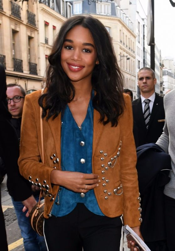 Laura Harrier - Leaves the Bristol Hotel in Paris 10/03/2017