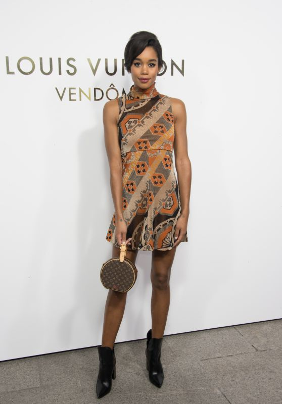 Laura Harrier – Louis Vuitton Boutique Opening in Paris 10/02/2017
