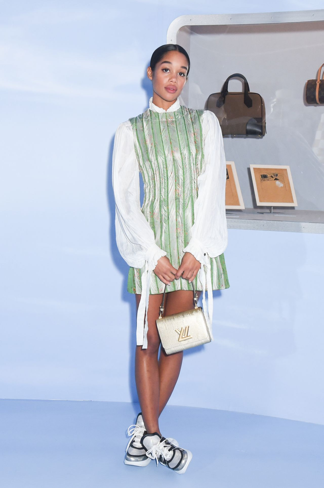 Laura Harrier – Volez, Voguez, Voyagez: Louis Vuitton Exhibition Opening in NYC