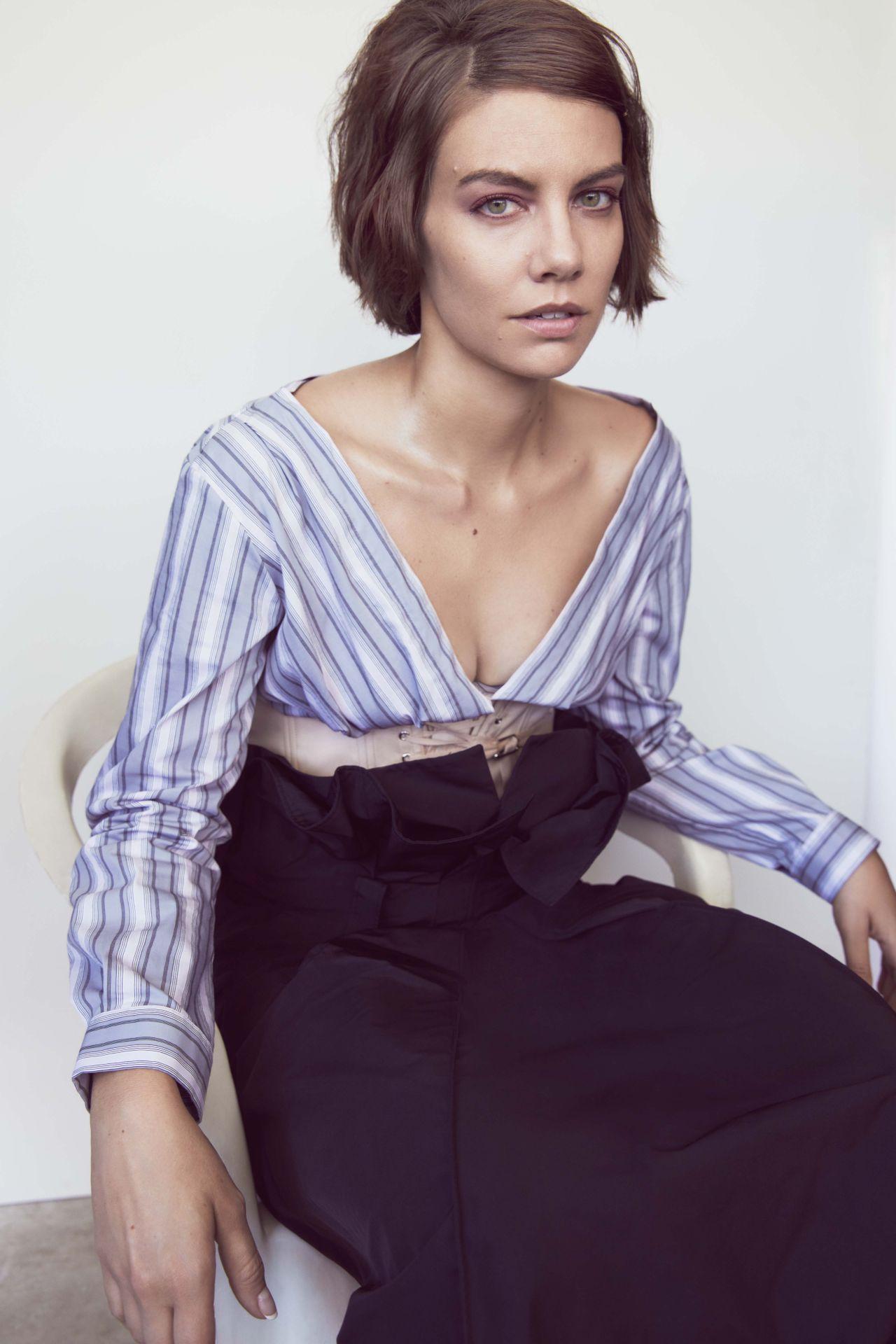 Lauren Cohan Interview Magazine October 2017 Photos