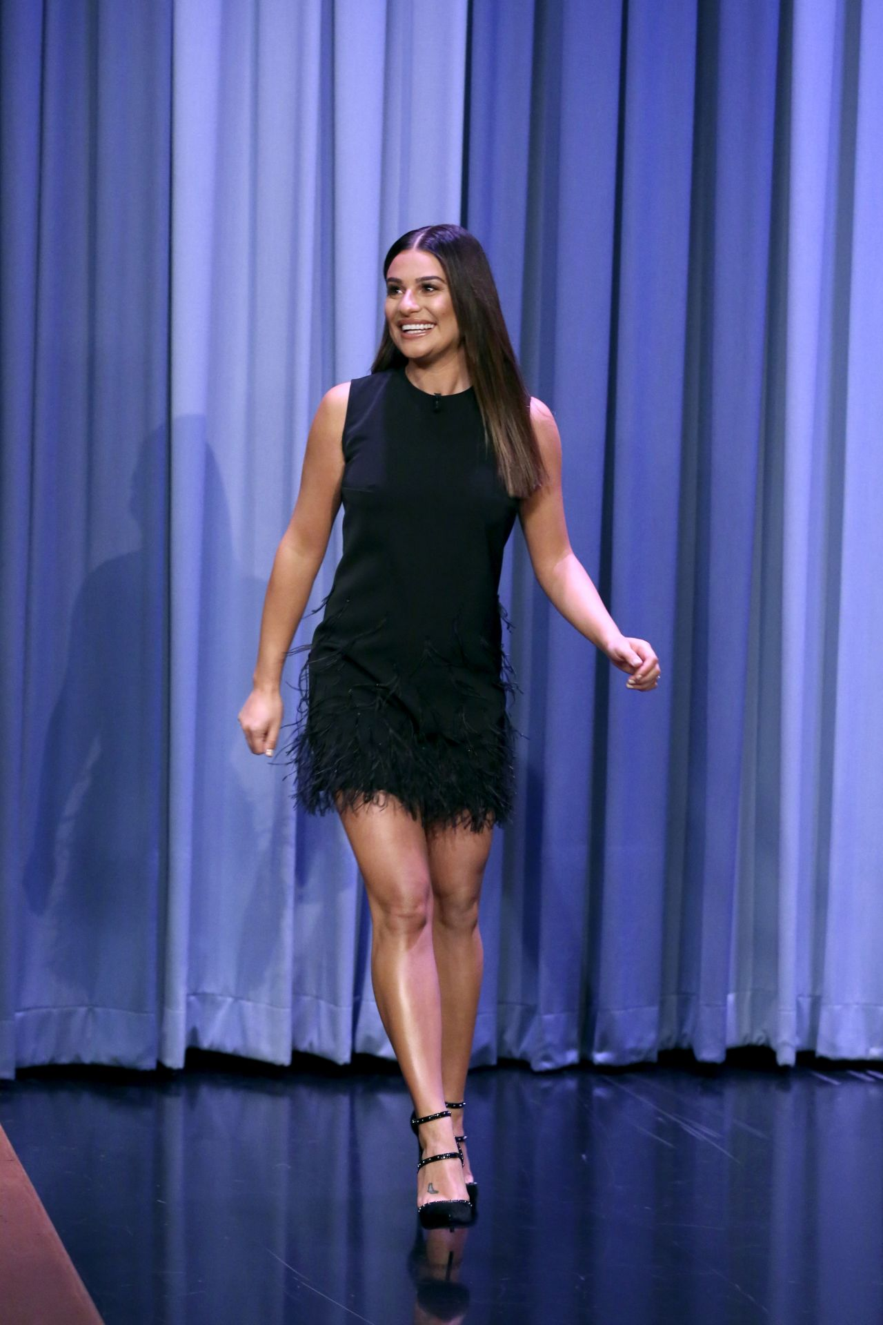Lea Michele Appeared on The Tonight Show Starring Jimmy Fallon 10/09/2017