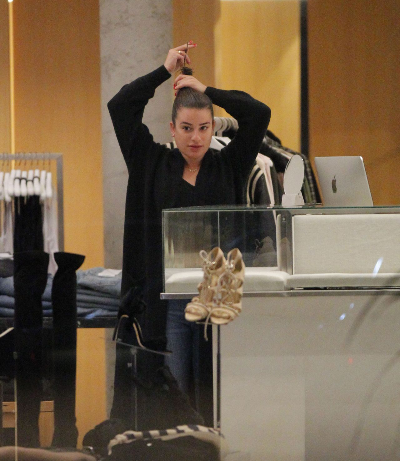 Lea Michele - Shopping in Beverly Hills 10/29/2017