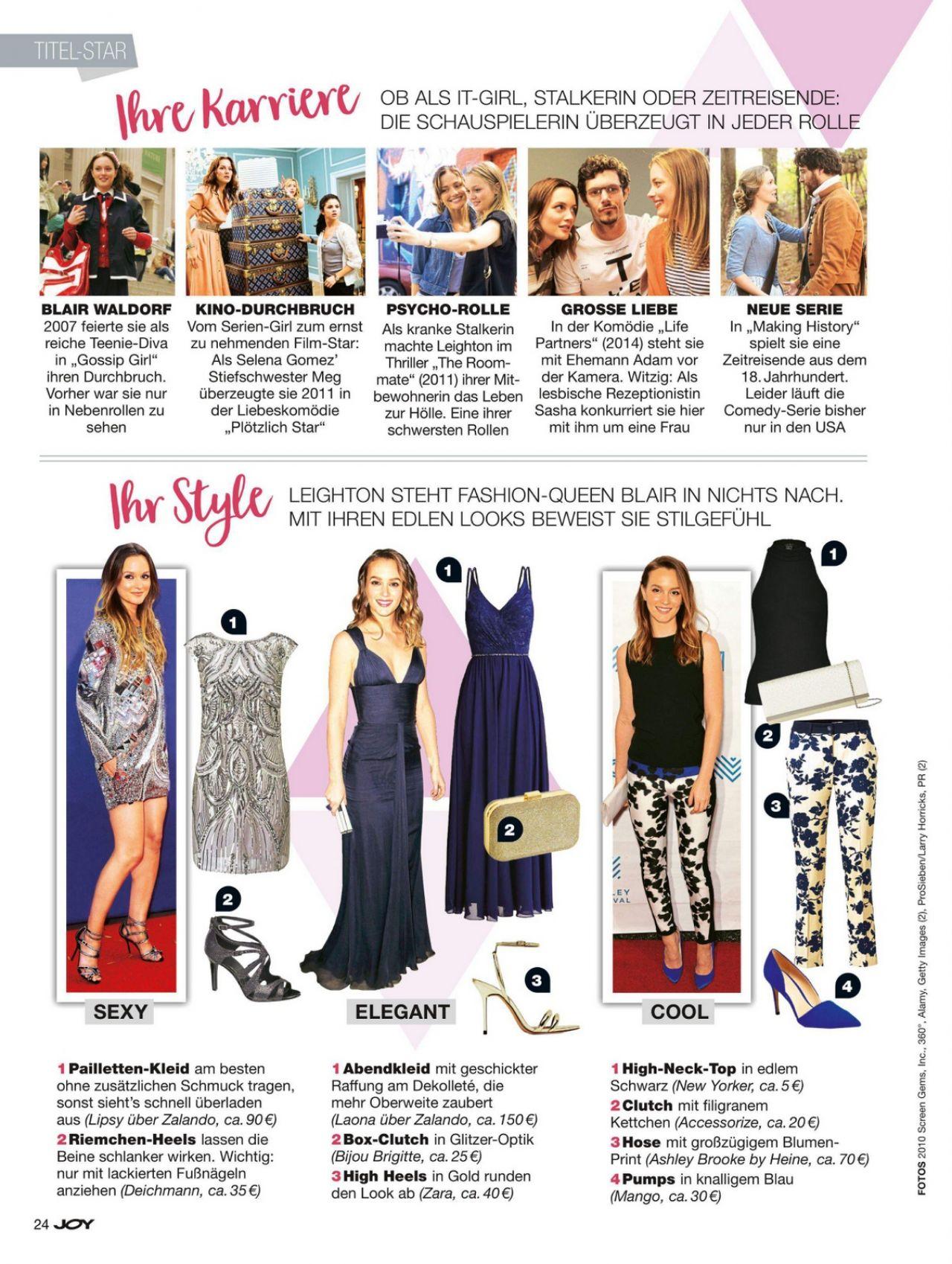 Leighton Meester - Joy Magazine Germany November 2017 Issue