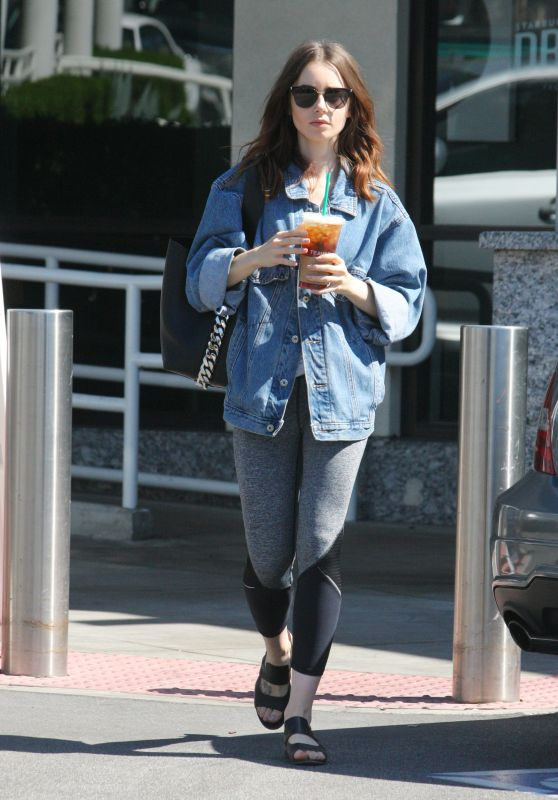 Lily Collins - Gets Some Coffee and Grocery in Beverly Hills 10/08/2017