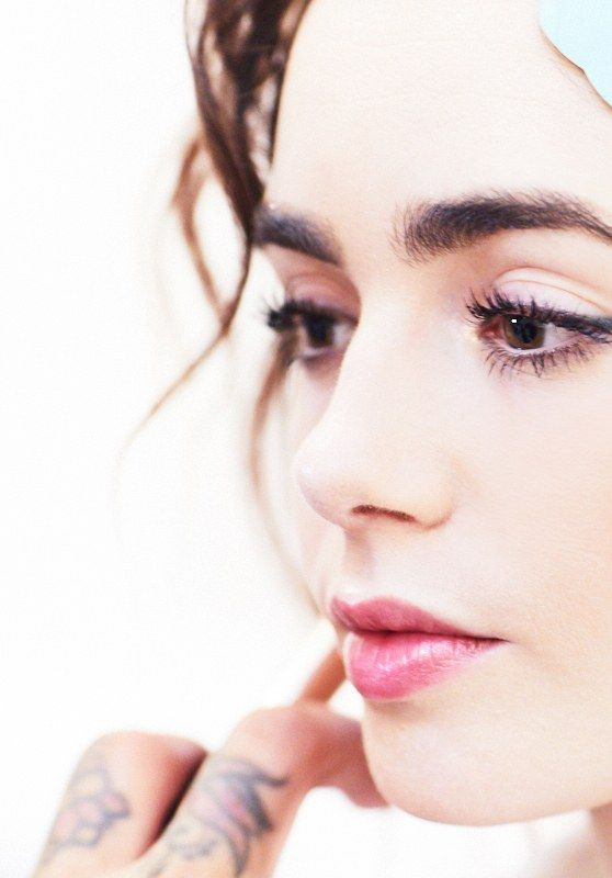 Lily Collins - Getting Ready for Paris Fashion Week With W Magazine 10/01/2017