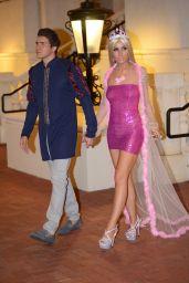 Lisa Opie With Her Boyfriend in Los Angeles 10/25/2017