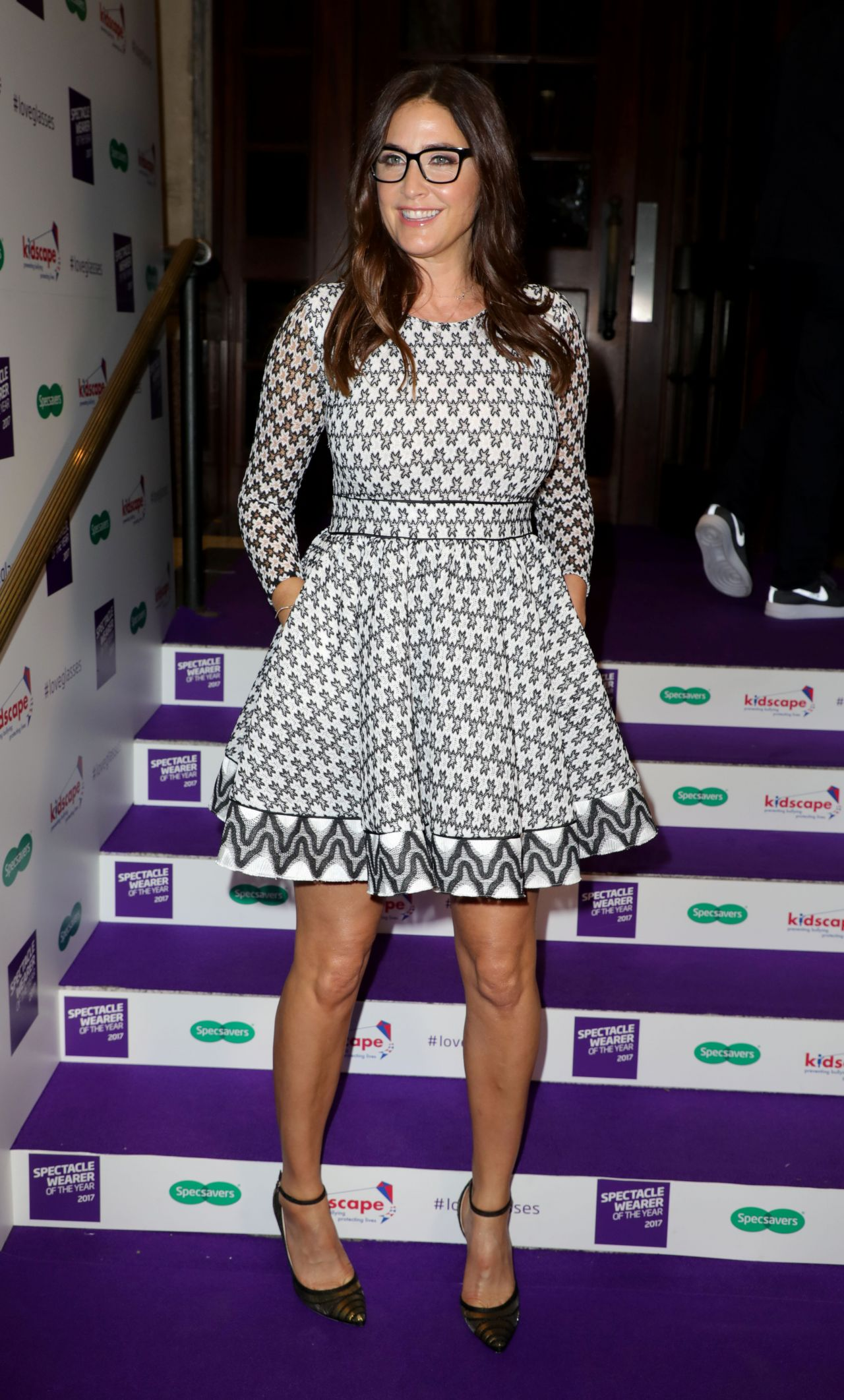 """Lisa Snowdon - Specsavers """"Spectacle Wearer of the Year"""" in London 10/10/2017"""