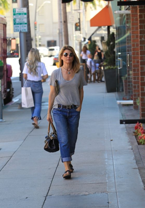Lori Loughlin Street Style - Shopping in Beverly Hills 10/23/2017