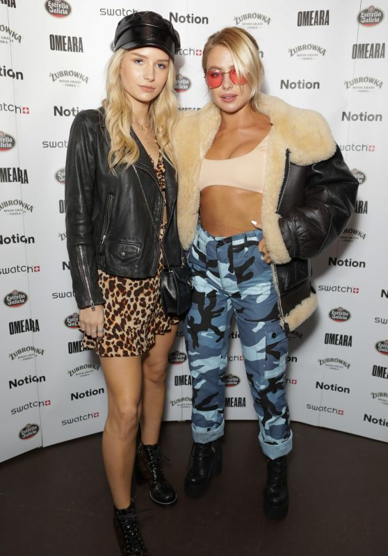 Lottie Moss and Jess Woodley - Notion Magazine 77 Launch Party in London 10/12/2017