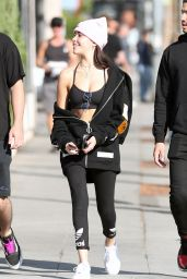 Madison Beer in Tights - Santa Monica Blvd in West Hollywood