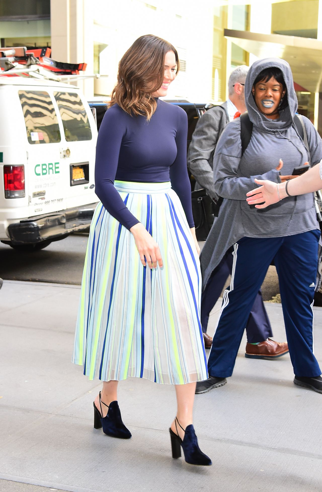 """Mandy Moore - Coming Out of the """"Today"""" Show in NYC 10/10/2017"""