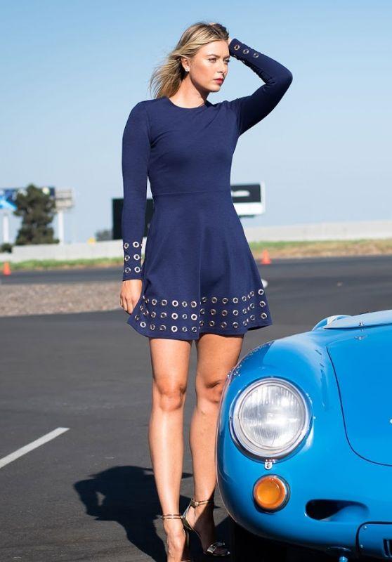 Maria Sharapova - Porsche Brand Ambassador Photoshoot in LA 2017