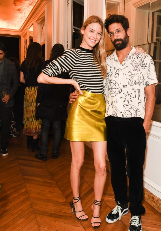 "Martha Hunt – CFDA and Vogue Fashion Fund ""Americans in Paris"" Cocktail Party in Paris 09/30/2017"