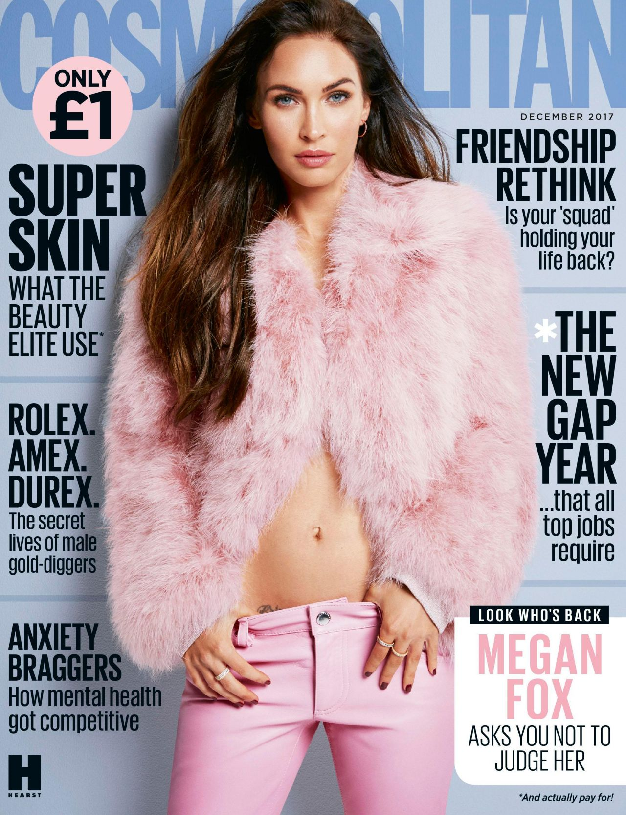 Megan Fox - Cosmopolitan UK December 2017 Cover and Pics