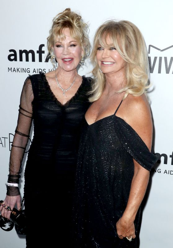 Melanie Griffith and Goldie Hawn - amfAR Gala 2017 in Los Angeles